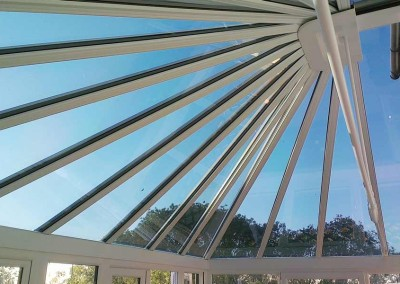 Glass conservatory roof film