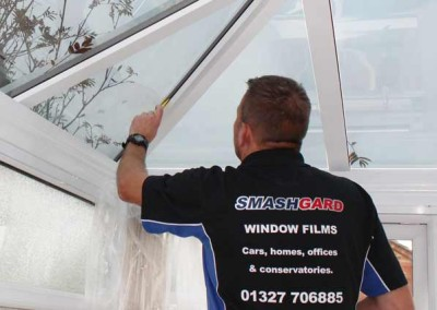 Clean and elegant - our conservatory window films enhance any roof