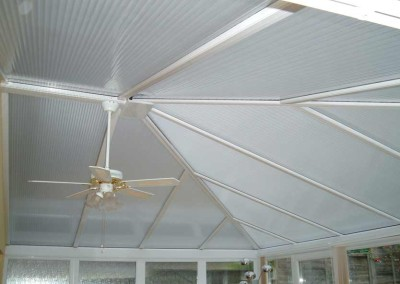 Our amazing polycarbonate film gives a fantastic finish to any plastic roof.