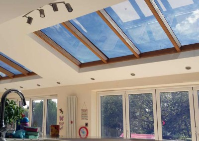 Our fantastic 2 ply film provides a beautiful finish to any roof glazing.