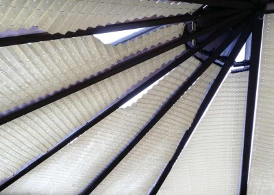 Roof blinds. Expensive, hoard dust, dirt and dead flies and more importantly, extremely expensive compared to our films.